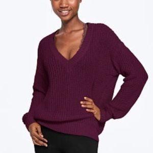 NEW VS PINK V-Neck heritage sweater